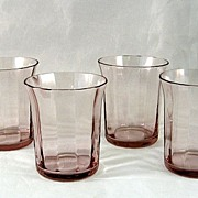 SALE 4 Fostoria Orchid Shot Glasses