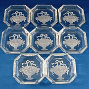 SALE 8 Czech Small Dishes or Pin Trays