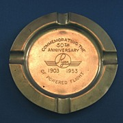 SALE 50th Anniversary of Powered Flight Metal Ashtray