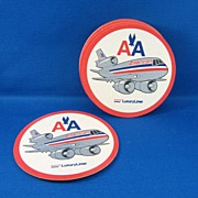 SALE 6 American Airline Drink Coasters
