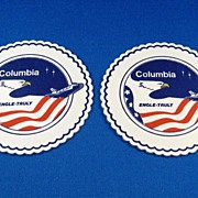 SALE 2 Columbia Space Shuttle Drink Coasters 1981