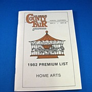 SALE Los Angeles County Fair 1982 Premium List Home Arts Catalog