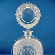 SALE Cut Glass European Perfume Bottle