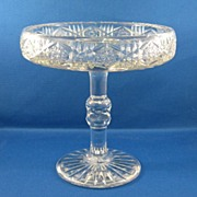 SOLD Dorflinger  Cut Glass Compote
