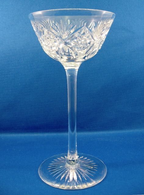 American Brilliant Cut Glass Toasting Glass