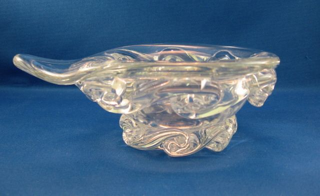 Baccarat Clear Bowl With Tab Handle