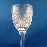SALE Tyrone Cut Glass Tall Wine