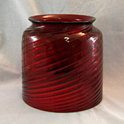 SALE Cranberry Glass Gas Pendant Shade
