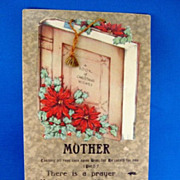 SALE Hanging Paper Mother & Christmas Motto