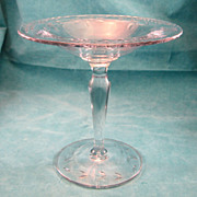 SALE Engraved & Cut Glass Compote