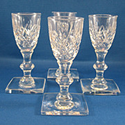 SALE 4 Hawkes Cut Glass Sherry Cornwall Waterford  Pattern Glasses