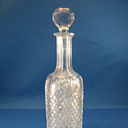 SOLD American Brilliant Cut Glass Worcestershire Bottle