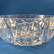 SALE European Cut Glass Bowl
