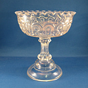 SALE Moon & Stars Pressed Glass Compote