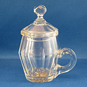 SALE Cut Glass Covered Mustard Pot