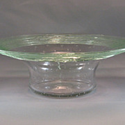 SALE Fry Clear & Green Threaded Bowl