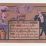 SALE Unused 1905 Postcard Artist Signed By Ryan