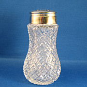 SALE Cut Glass Shaker
