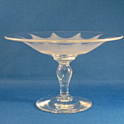 SALE American Cut Glass Compote