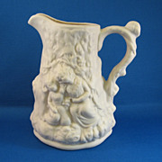 SALE Porcelain Embossed Pitcher