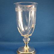 SALE Hawkes Sterling and Cut Glass Goblet