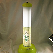 SALE 1930's Yellow  Cylinder Fluorescent Table Lamp
