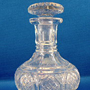 SALE English Cut Glass Perfume Bottle