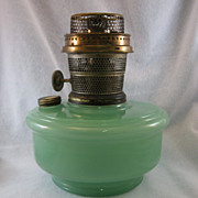 SALE Aladdin Model B Green Kerosene Shelf Lamp