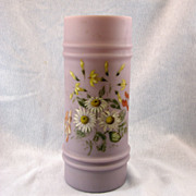 SALE Mt Washington Victorian Hand Painted Lavender Vase
