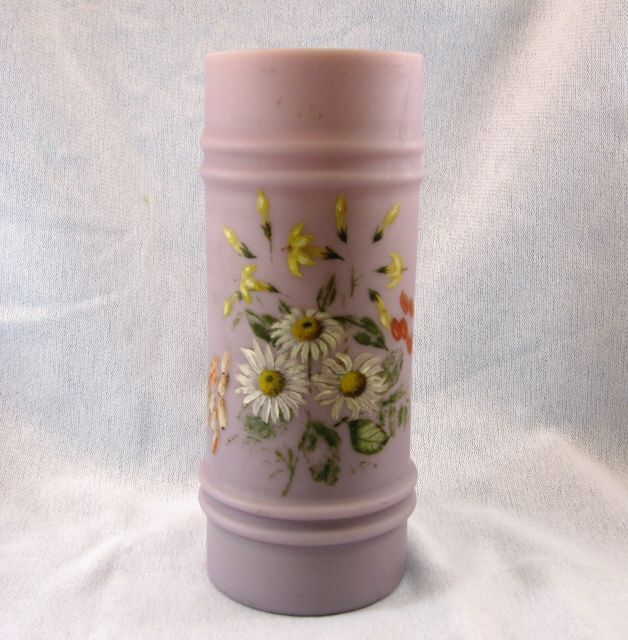 Mt Washington Victorian Hand Painted Lavender Vase