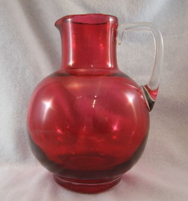 Victorian Cranberry Pitcher