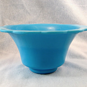 SALE Blue Peking Glass Rice Bowl