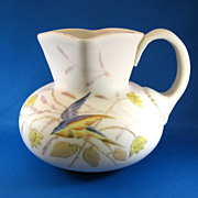 SALE Mt Washington Blue Bird Pattern Pitcher