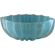 SALE Murano Venetian Blue & Clear Bowl