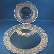 SALE Mirror Plateau & Matching Bowl