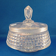 SALE American Brilliant Cut Glass Covered Dish