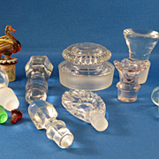 SALE 11 Assorted Glass Stoppers