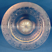 SALE American Brilliant Cut & Engraved Bowl