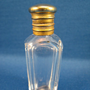 SALE Small Cut Glass Perfume Bottle
