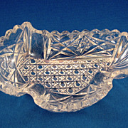 SALE American Brilliant Cut Glass Nut Dish