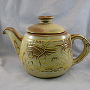 SALE Frankoma Mayan Aztec Tea Pot