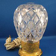 SALE Czech Cut Glass Perfume Lamp