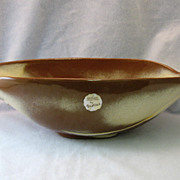 SALE Frankoma Desert Gold Rutile Bowl