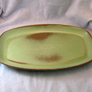 SALE Frankoma Westwind Prairie Green Platter