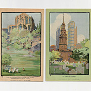SALE 2  Unused Volland Art Lovers New York Postcards 1914