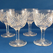 SALE 4 Hawkes Cut Glass Small Wines