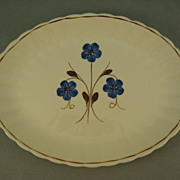 SALE Blue Ridge Platter With Blue Flowers Puritan Pattern 1940's