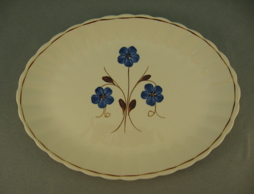 Blue Ridge Platter With Blue Flowers Puritan Pattern 1940's