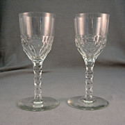SALE 2 Bohemian Cut Glass Goblets 1930's