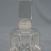 SALE 1920's Faberge Octagon Shaped Mini Cut Glass Perfume